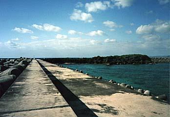 徳仁港のエラブ岩
