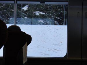 窓ガラスについた血飛沫