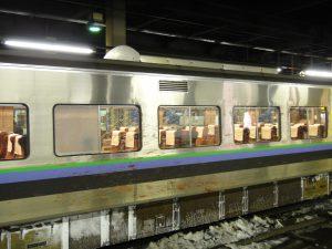 札幌駅のホームから撮影した鹿の血飛沫