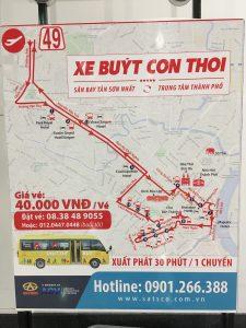 49番バスの路線図