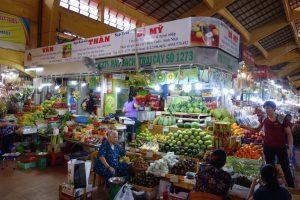 ベンタイン市場の果物売り場