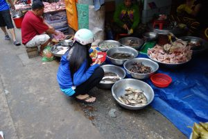 路地の即席市場#2