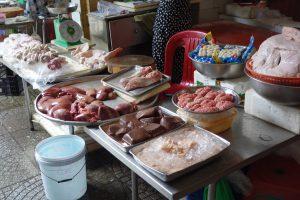 ベンタイン市場の肉売り場